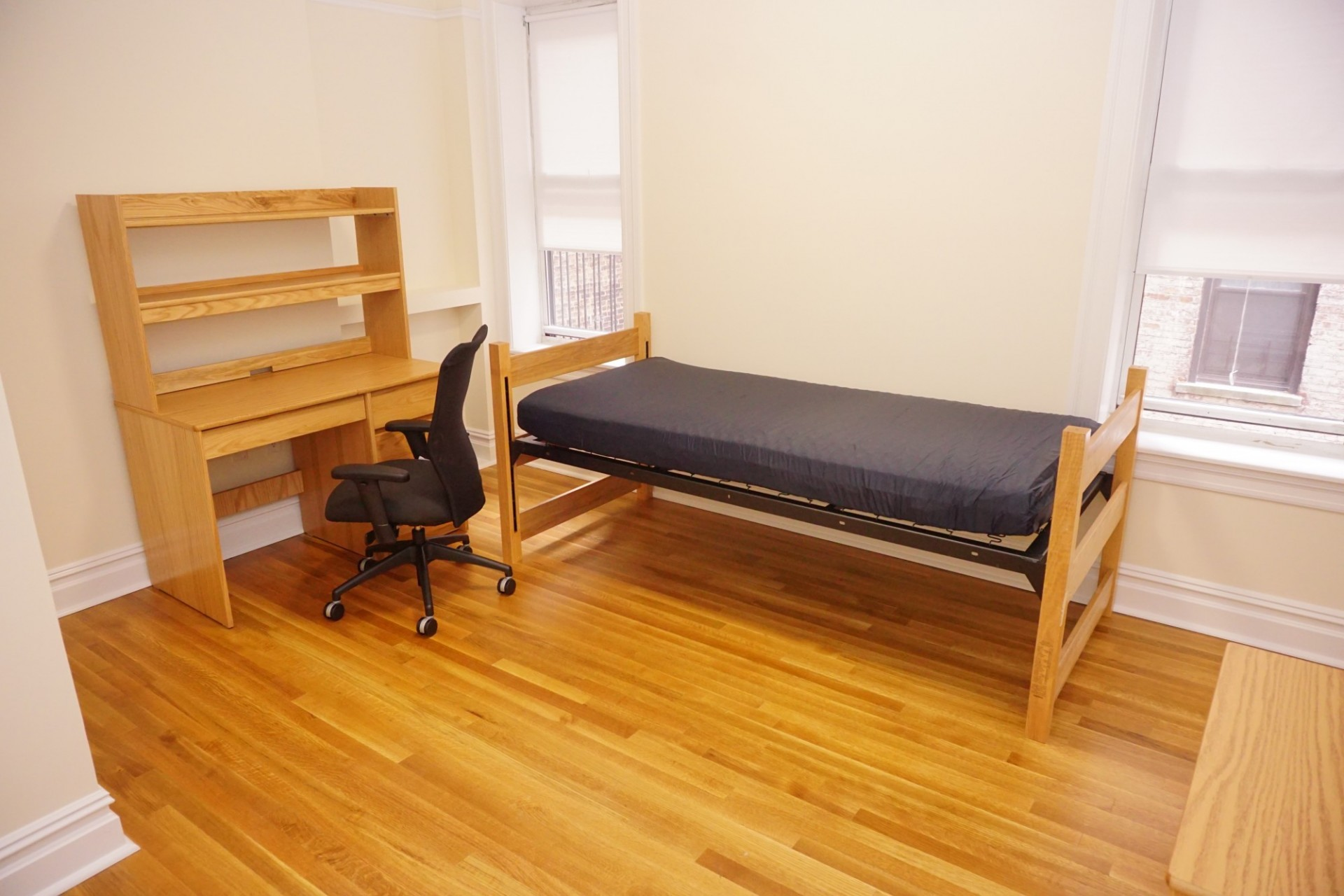 Example of a private bedroom in a two bedroom apartment share