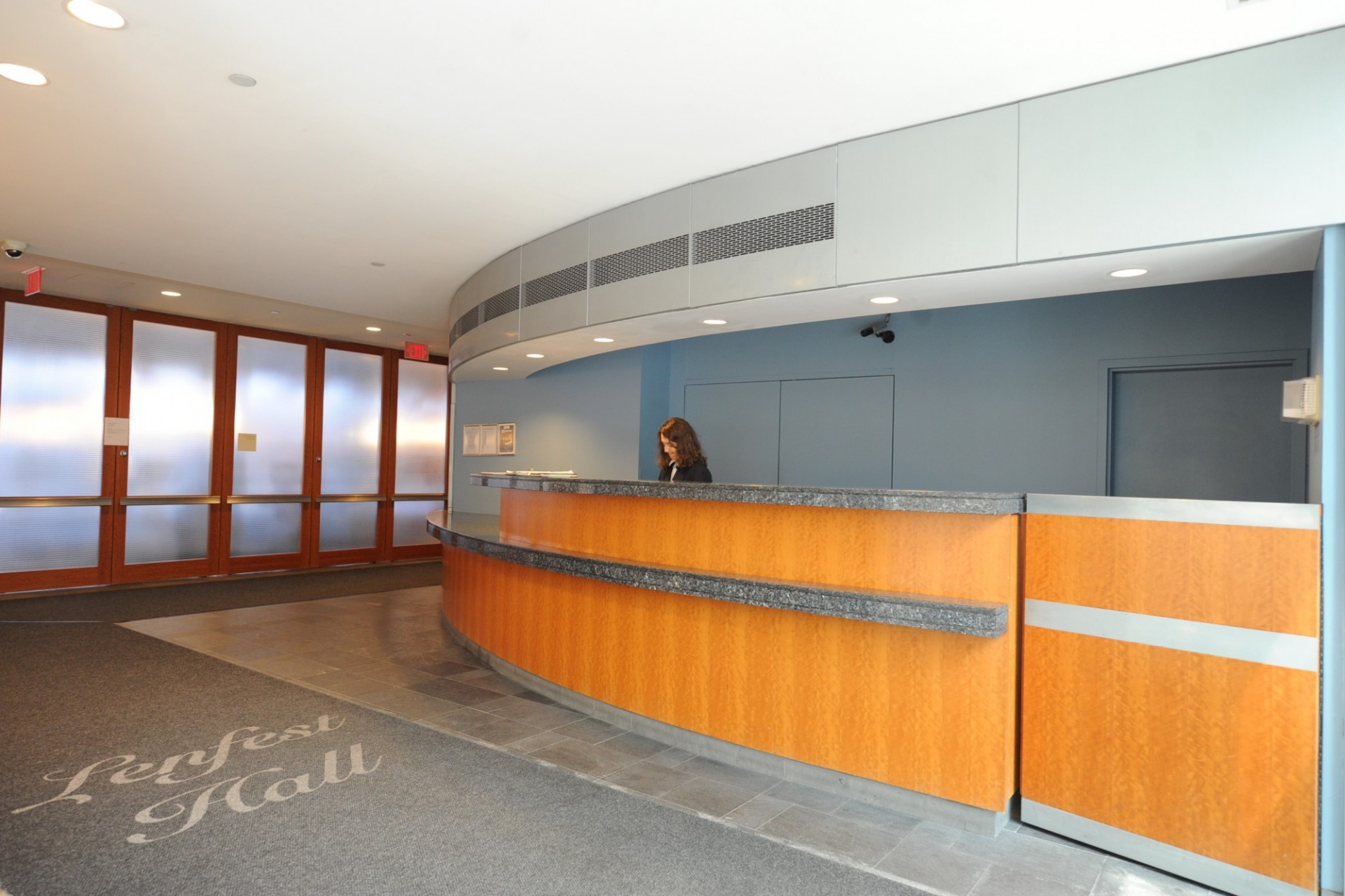 Front Desk & Lobby of Lenfest Hall