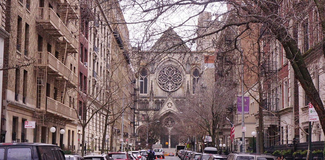 The Cathedral of St. John the Divine is located on the corner of W. 112th Street and Broadway.